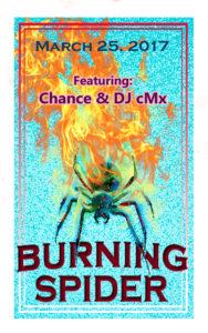 Robert Bryan Burning Spider Poster 2017 Poster Auction